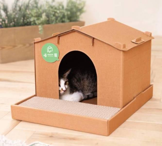 【別墅喵屋】  (喵屋是貓窩,也是貓抓板~) 喵屋/貓屋/紙貓屋/寵物居/便宜/質感