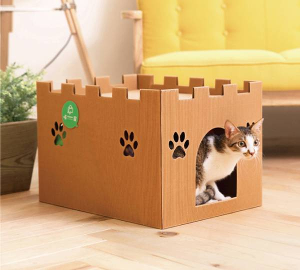 【城堡貓屋】喵皇尊爵款  (喵屋是貓窩,也是貓抓板~) 喵屋/貓屋/紙貓屋/寵物居/便宜/質感