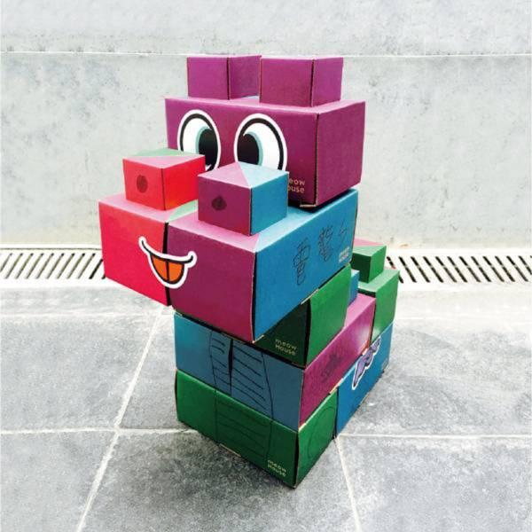 【玩意積木】(10個一組 附含表情壁貼) 樂高 貓玩具 玩具 積木 喵屋