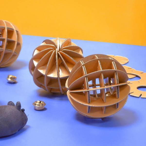 【叮噹球】 (可愛的貓玩具,搭配紙獵槍更好玩) 叮噹球,貓玩具,球,便宜,喵屋
