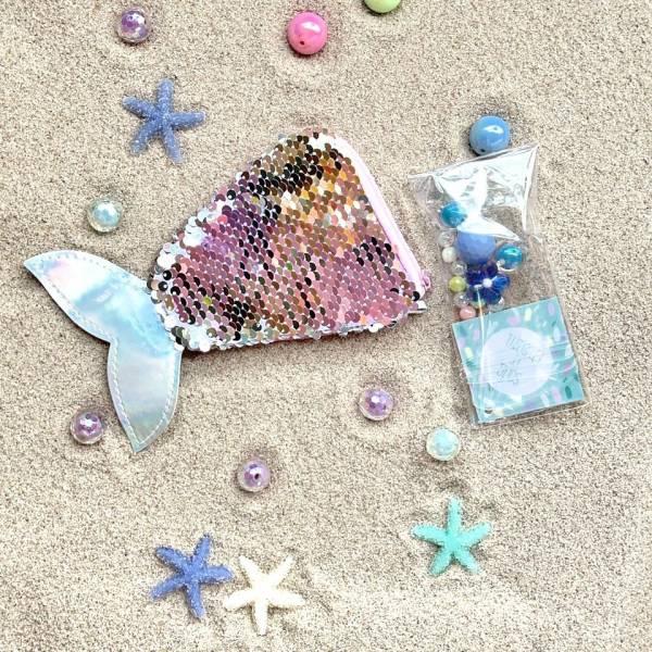 亮片串珠人魚包 藍