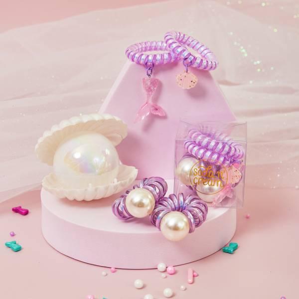 珍珠美人魚珠寶盒 紫