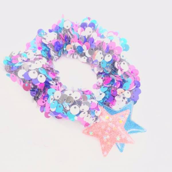 [官網限定] 翻轉亮片甜甜圈 (彩虹糖) Reversible Sequin Scrunchie (Candies)