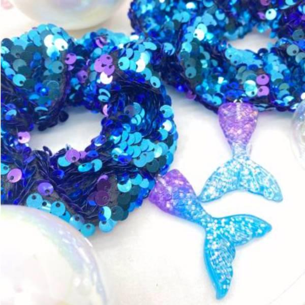 [官網限定] 人魚公主甜甜圈 (葡萄寶石) Mermaid Reversible Sequin Scrunchie (Jewl)