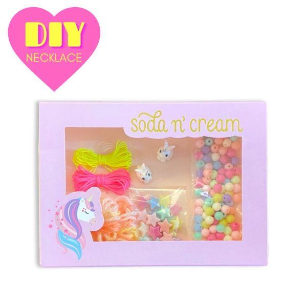 彩虹兔兔項鍊DIY禮盒