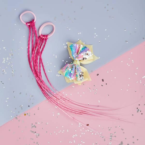 彩虹小馬辮組 (桃粉) Rainbow Pony