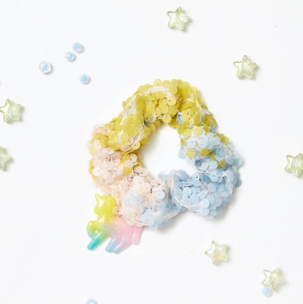 [官網限定] 俏皮獨角獸亮片甜甜圈 Sequin Scrunchie (Unicorn)