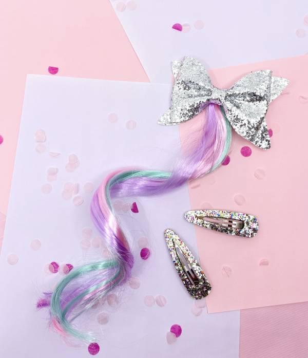 冰雪公主Bow卷髮夾組 (銀) Frozen Princess Hair (silver)