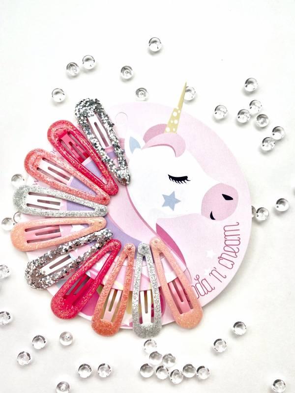 一閃一閃亮晶晶 (粉紅炫風) Pink Sparkle Clips