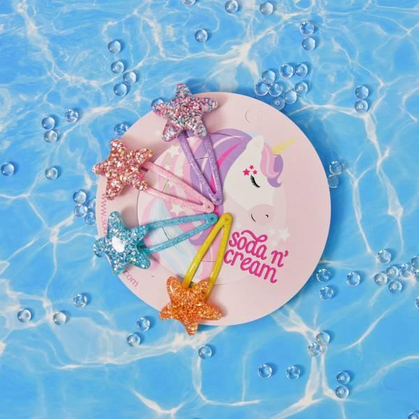海星亮晶晶髮夾組