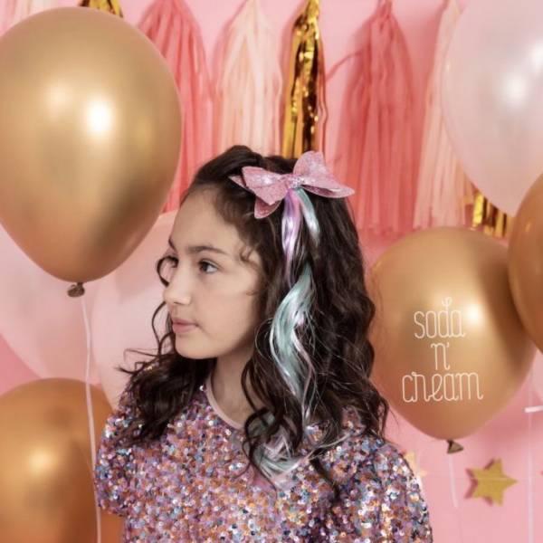 甜甜公主Bow卷髮夾組 (粉) Sweet Princess Hair (pink)