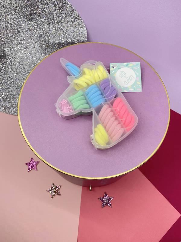髮圈珠寶盒(獨角獸粗髮圈) Unicorn Hair Tie Jewl Box (Bright)