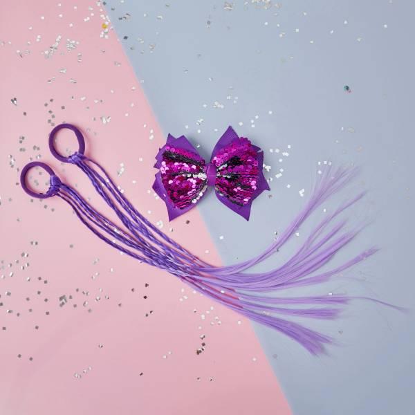 彩虹小馬辮組 (紫) Purple Pony