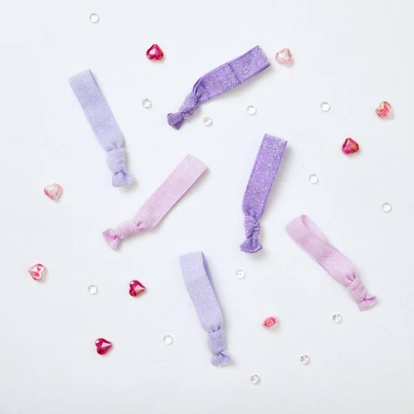 糖果緞帶髮圈(紫粉)