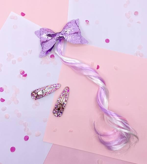 浪漫公主Bow卷髮夾組 (紫) Romantic Princess Hair (purple)