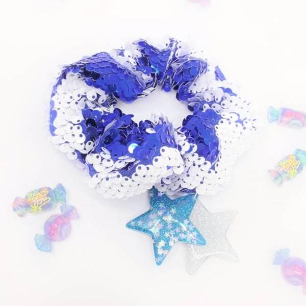 [官網限定] 翻轉亮片甜甜圈 (藍莓牛奶) Reversible Sequin Scrunchie (Blueberry Milkshake)