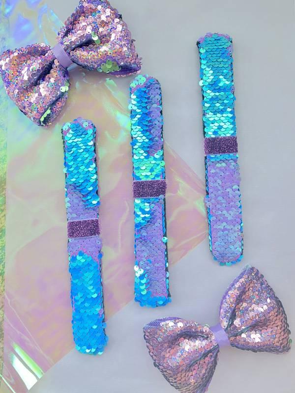 拍拍Bow (手環/髮圈/髮夾組)-紫 Snap Bracelet/ Bow/ Tie 3 in 1 - Purple