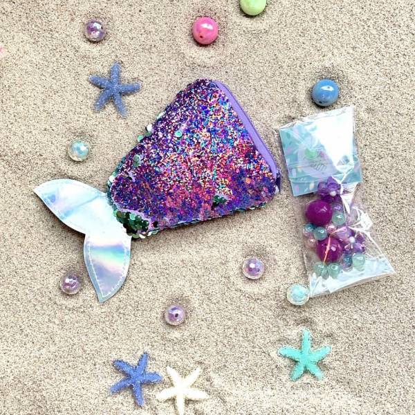 亮片串珠人魚包 紫