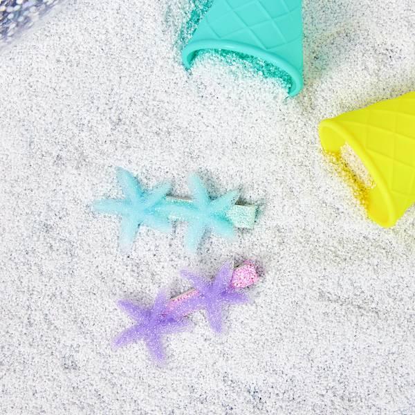 浪漫海星髮夾組 藍紫