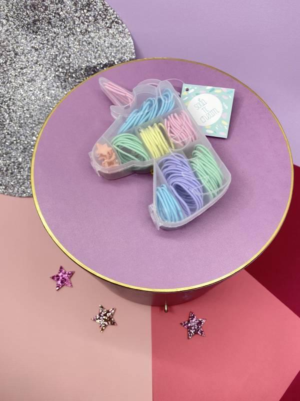 髮圈珠寶盒(獨角獸細髮圈) Unicorn Hair Tie Jewl Box (Sweet)