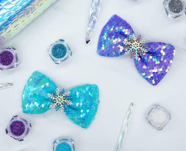 雪花亮晶晶蝴蝶結組