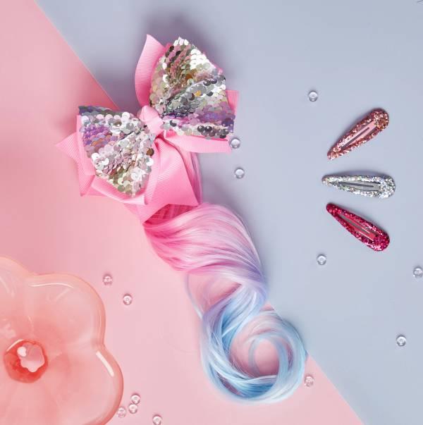 粉晶晶捲髮夾組 Pink Sparkle