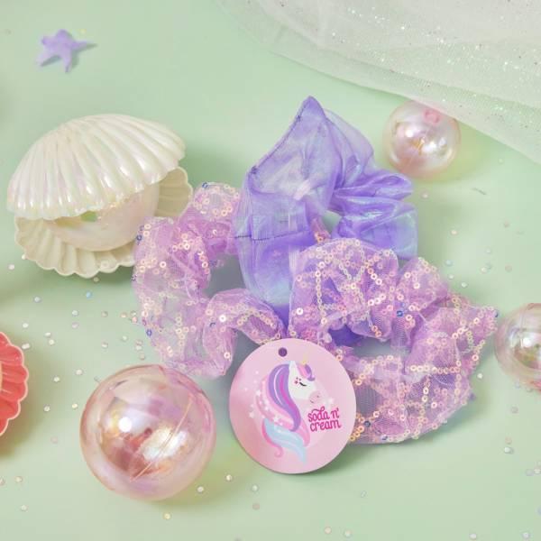 幻彩人魚髮圈 紫