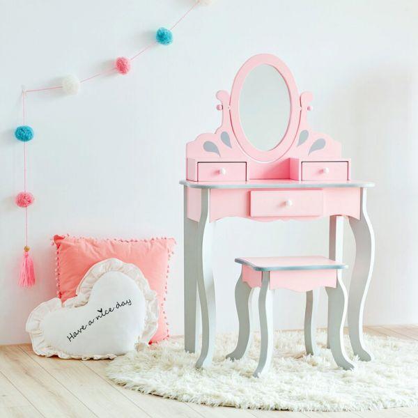 小公主樂佩兒木質化妝桌椅組