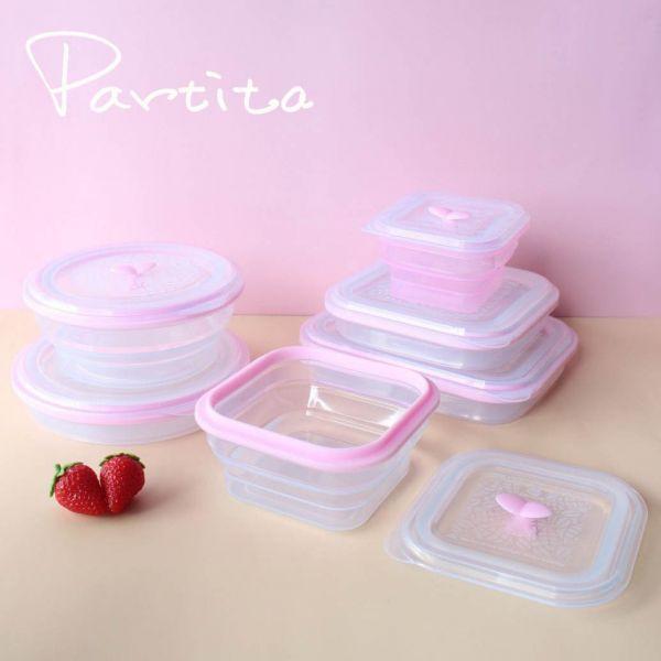 【Partira帕緹塔】全矽膠春芽系列保鮮盒套裝六件組 保鮮盒,環保,加拿大,無毒,安全,帕緹塔,矽膠,收納,餐盒,便當盒