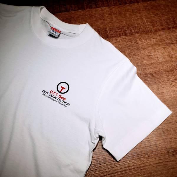 OTT【OTT  logo T-白色】  OTT,OTTGEAR,OTT GEAR,T-shirt,tshirt,shirt,uniform