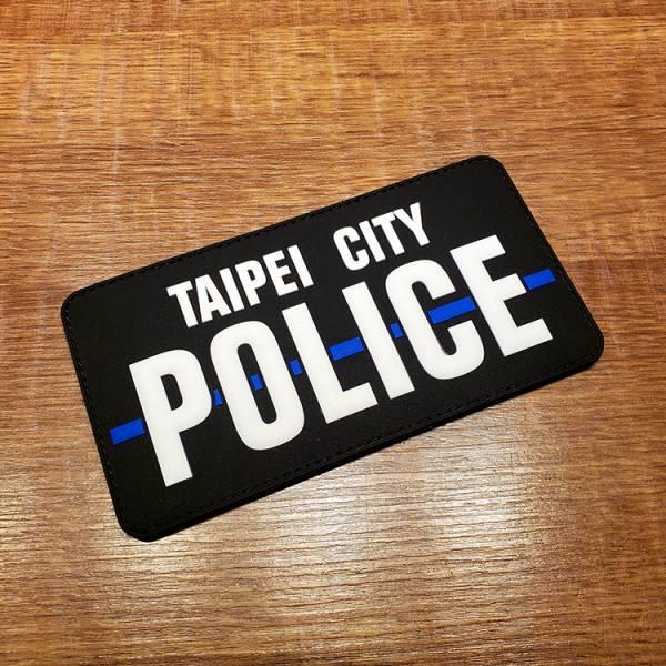 OTT【細藍線Taipei City POLICE臂章】 OTT,OTTGEAR,OTT GEAR,臂章,PVC臂章,PVC章,士氣章,POLICE,thin blue line,台北市,TAIPEI