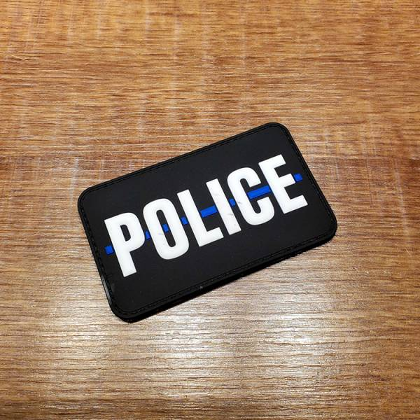 OTT【Thin Blue Line ver. Police Patch】 OTT,OTTGEAR,OTT GEAR,臂章,PVC臂章,PVC章,士氣章,POLICE,thin blue line