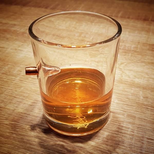 OTT【10oz Bullet Rocks Glass】 ott,ottgear,威士忌杯,玻璃杯,子彈模型,惰性彈,裝飾彈,子彈杯