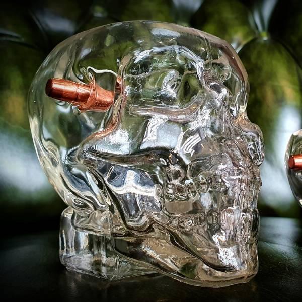 OTT【.308水晶骷髅子弹杯(威士忌杯)】 ott,ottgear,威士忌杯,玻璃杯,子弹模型,惰性弹,装饰弹,子弹杯