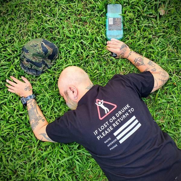 OTT【Drunk, Lost & Transport service T-shirt】 OTT,OTTGEAR,OTT GEAR,T-shirt,tshirt,shirt,T恤,酒醉,迷失