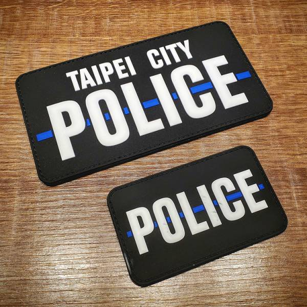 OTT【細藍線POLICE臂章組】 OTT,OTTGEAR,OTT GEAR,臂章,PVC臂章,PVC章,士氣章,POLICE,thin blue line,台北市,TAIPEI