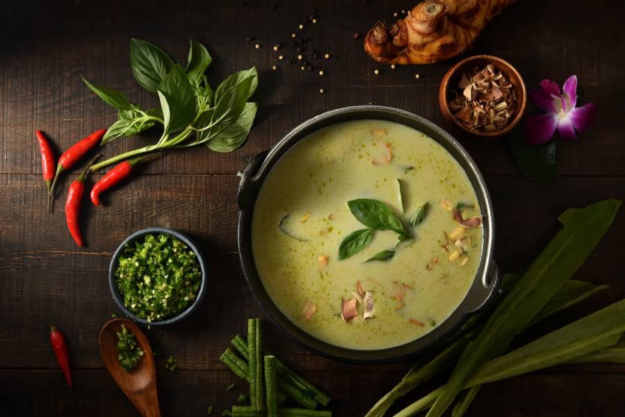 泰丘綠咖喱椰汁湯底(5包) 泰國,泰式火鍋,綠咖喱,湯底