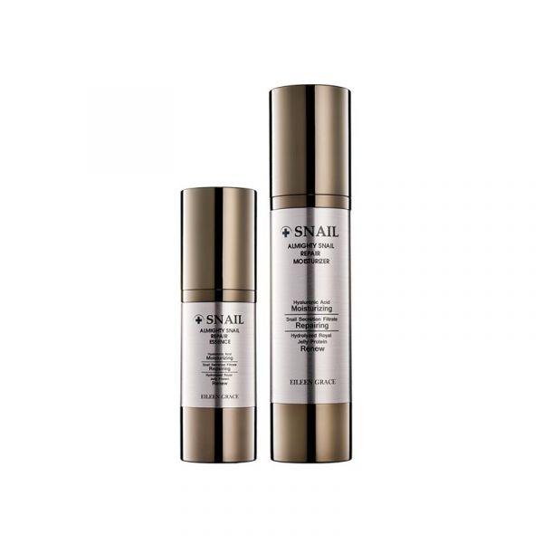 [Free Gift] Snail Repair Care Kit - Essence & moisturizer/ 2pcs,  蝸牛乳液,蝸牛精華,修護