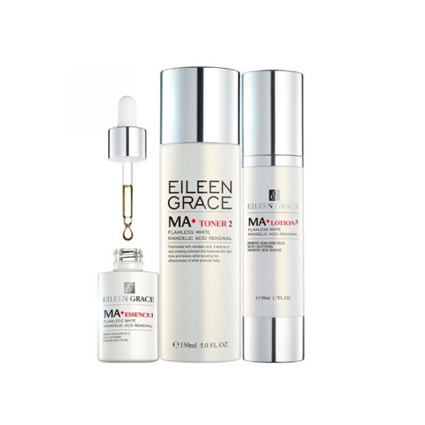 [Free Gifts] Flawless White Mandelic Acid Renewal Kit – Essence, Toner & Lotion/ 3pcs,