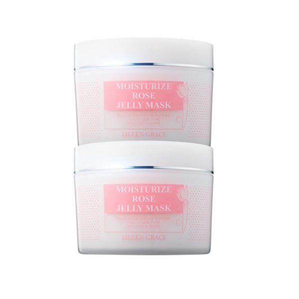 保濕亮白玫瑰組》玫瑰晶凍300ml(內附刮棒)X2 玫瑰凍膜,妍霓絲,美白面膜,保濕面膜,凍膜