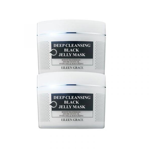 [Free Gift] Black Jelly Mask Kit/ 2pc,  玫瑰凍膜,保濕,美白,蘆薈面膜,凍膜