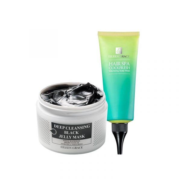 Deep Cleaning Kit – Scalp Mask & Black Jelly Mask/ 2pcs,