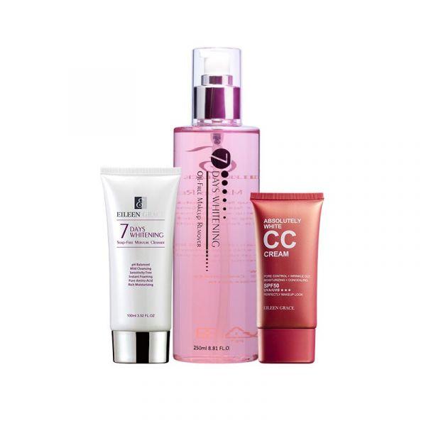 Foundation Cleanse Kit – CC Cream, Cleanser & Makeup Remover/ 3pcs, 卸妝液,CC霜,洗顏蜜,腮紅露,唇頰露