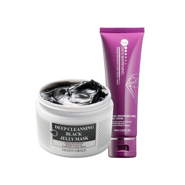 [Free Gift] Pore Scrub Kit – Black Jelly Mask & Peeling Cream/ 2pcs,  火山泥、面膜、泥膜、去角質