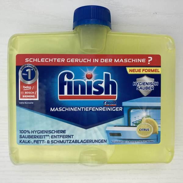 德國版 Finish 檸檬 洗碗機清潔劑250ml 製造日期2020.11月 Finish 洗碗機清潔劑