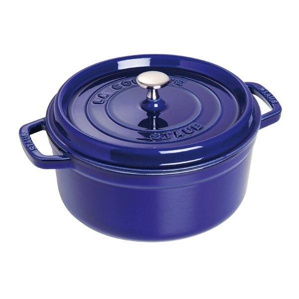 Staub 鑄鐵鍋 圓鍋 24公分 藍色 【優惠價不提供刷卡】 Staub 鑄鐵鍋 圓鍋 24公分 藍色