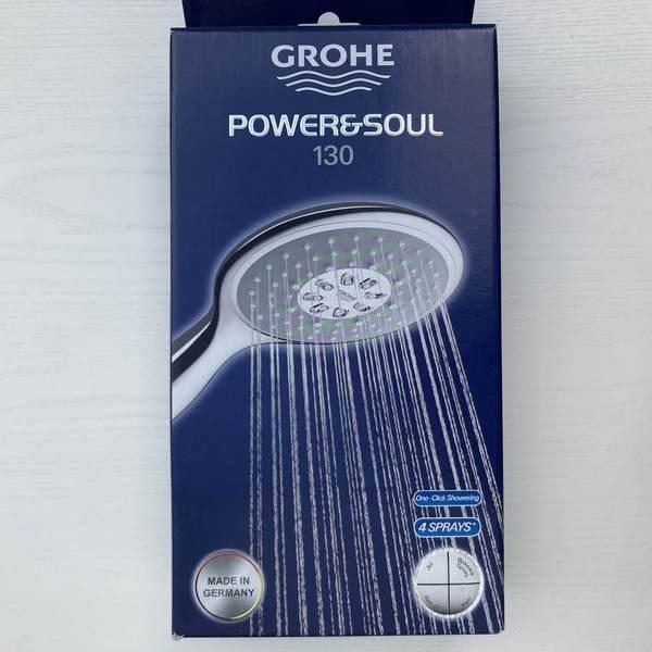 德國版 Grohe Power&Soul 四段式花灑蓮蓬頭130mm Grohe Power&Soul 四段式淋浴蓮蓬頭 130mm