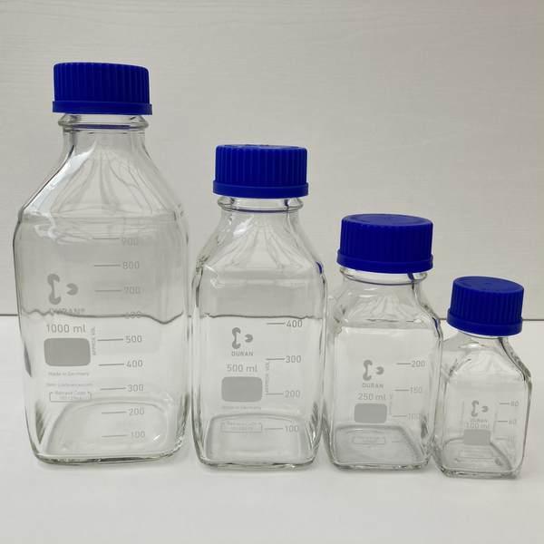 DURAN 方形玻璃瓶 100/250/500/1000ml 德國 DURAN Youtility 血清瓶
