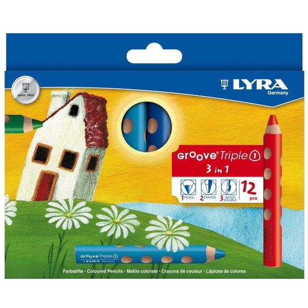 德國版 Lyra Groove 三合一 胖胖三角洞洞筆12色 Lyra Groove 三合一 胖胖三角洞洞筆