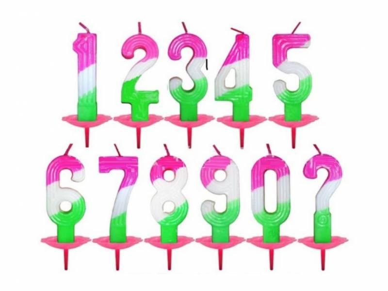 數字蠟燭(1入含底座)
